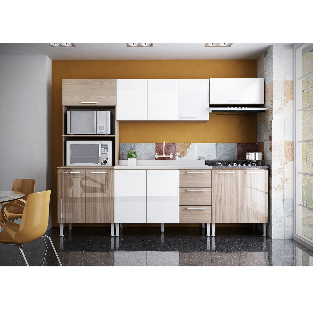 Cozinha Modulada Completa Com 05 M Dulos Alice Genial Flex
