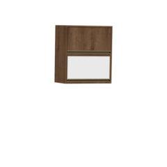 9067-Aéreo 60cm - 02 basculantes 01 de madeira e 01 de vidro - Fechado