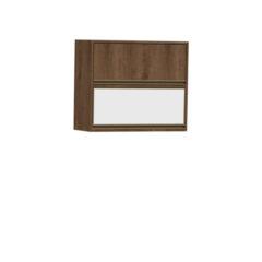 9078-Aéreo 80cm - 01 basculante de madeira e 01 de vidro - Fechado