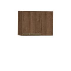 9086-Aéreo de Canto 02 portas de madeira - Esquerdo - FECHADO