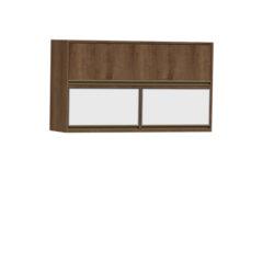 9094-Aéreo 120cm 02 basculantes de vidro e 01 basculante de madeira - FECHADO