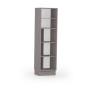 8035-Paneleiro duplo c porta de madeira - ABERTO