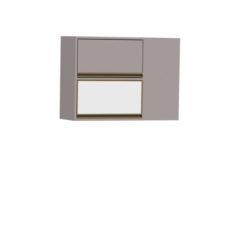 8084-Aéreo de Canto - 01 basculante de vidro e 01 basculante de madeira- Esquerdo - FECHADO