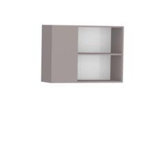 8086-Aéreo de Canto 02 portas de madeira - Direito - ABERTO