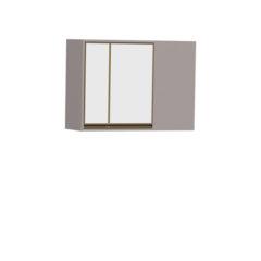 8087-Aéreo de Canto 02 portas de vidro - Esquerdo - FECHADO